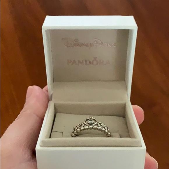 Pandora Disney Princess Tiara Crown Ring Silver